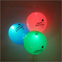 12inch felice compleanno Flash LED Palloncini Luminoso incandescenza nel cielo scuro Lanterne Compleanno Party Decorazione San Valentino