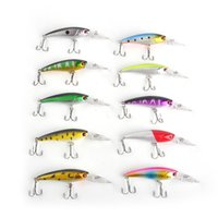 10 cores 9.2cm 8g Pescando a atração Deep Swim Hard Bait Ocean Rock Fish Incêndios artificiais Minnow Fishing Wobbler Japan Pesca Wholesale