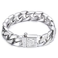 Wholesale silver tone toggle clasp - Top Quanlity Curb Cuban Stainless Steel Bracelet Mens Chain Clasp Link Bracelets Silver Tone Jewelry Gift