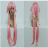 Wholesale Yuno Gasai Cosplay Wig - Cheap The Future Diary Gasai Yuno 100cm Long Straight Braided Light Pink Halloween Cosplay Anime Wig