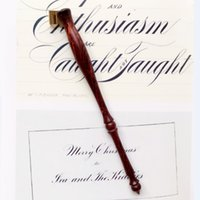 Holder All'ingrosso-Rose Wood Inglese calligrafia Copperplate Oblique Dip Pen mano regalo europeo Dip Pen Vintage