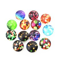 Wholesale Bright Silver Charms - Wholesale 18mm noosa chunk glass snap Bright starlight snap button jewelry