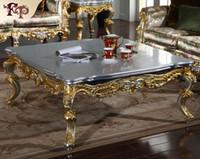 mobília francesa antiga venda por atacado-Antique CLASSIC FURNITURE - Mesa de centro clássica francesa com dourados dourados e dourados - Mesa de centro clássica italiana