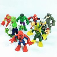 8 x Heroes Playskool 2.5 '' action figures Marvel Super Hero Squad Adventures