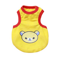 Wholesale Dog Clothes Bear - Pet Dog Cat Puppy Vest Clothes Bear Print T shirt Apparel Costume SizeXS-XL