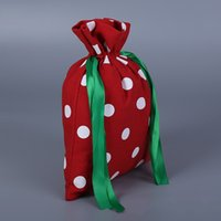 Wholesale shop for beds online - Bundle Pocket Printing Handbag Red Cotton Canvas Round Dot Drawstring Bag For Shopping Travel Storage Articles Portable am C R