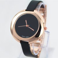 Wholesale Black White Fashion Jewelry - Fashion Women Leather Watch Top Brand Rose Gold luxury lady Watch Japan movement Free Shipping Box
