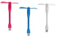 Wholesale mosquito ceiling fan - USB Fan Mini Portable Power-saving Adjustable Flexible for Power Bank PC Pad