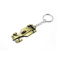 chaveiro do carro de corrida venda por atacado-Original Moda Trinkets Top Quality Liga de Zinco F1 Racing Car Chaveiro Presentes dos homens Jóias keychain Chave Titular