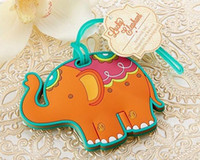 ingrosso rifornimenti di partito di elefante-Lucky Elephant Luggage Tag Wedding Favor Gifts Wedding Baby Shower Favor for Wedding Gifts Party Favors Supplies Free Shipping