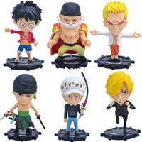 Wholesale one piece law toys online - NEW set cm One piece Donquixote Doflamingo luffy Zoro Sanji Trafalgar Law action figure toy Christmas gift doll