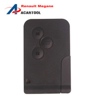 Wholesale Smart Card Renault - Good price Renault Megana Renault 3 Button Smart car Key 433MHZ with small key renault megan 3 button card key Free shipping