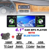 Wholesale Chinese Mp5 - 4.1 Inch 1 Din HD Car Stereo Radio Bluetooth MP3 MP5 Player Support USB   FM   TF   AUX with Rearview Camera CMO_227