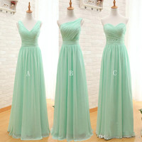 Wholesale Mint Strapless Chiffon Dress - Mint Green Long Chiffon Bridesmaid Dresses 2017 Cheap A Line Sweetheart Pleated Bridesmaids Dress Backless Formal Gowns under 50