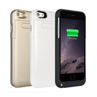 Wholesale External Backup Battery Charge - Power Cases For iPhone7 3200mah External Battery Cases Backup Charging Power Bank Case For iPhone 6 plus 7 plus BAC025
