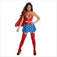 Wholesale wonder woman movie costume for sale - 2017 New Superwoman Outfit Role Playing Female Soldiers Serving Wonder Woman Cartoon Heroine Cosplay Dress Clothes Games