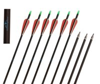 Wholesale Carbon Shafts - 12pcs Huntingdoor Carbon Shaft 31 Inch Archery Arrows with Field Points Replaceable Tips Plastic Vanes for Hunting and Shooting