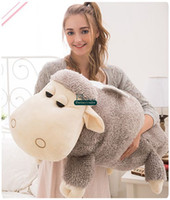 Wholesale Baby Doll Sheep - Dorimytrader 39''   100cm Large Plush Cartoon Anime Sheep Baby Doll Soft Stuffed lying Sheep Toy Nice Kids Present Free Shipping DY61058