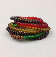 neon perlen großhandel-SN0557 heißer Verkauf bereift ringsum 6mm farbiges Neonkorne Armbandholzkorn Frauen Korn Wristband Chamilia Armband
