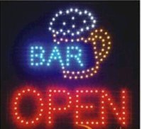 Wholesale pub open signs for sale - Group buy 2016 direct selling custom led sign x19 Inch indoor Ultra Bright flashing Bar pub business store open signboard