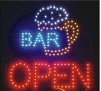 ingrosso pub segni aperti-2016 vendita diretta personalizzato led segno 19x19 pollici indoor Ultra luminoso lampeggiante Bar negozio di pub negozio aperto insegna all'ingrosso