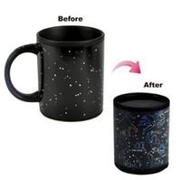sihirli ısı kupası toptan satış-Fantastik Constellation Kupa Yıldız Burcu Sihirli Kupa Bardak Değişim Renk Çay Kahve Su Bardağı Serin Isı Değiştiren Renk Seramik Bardak