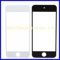 For Apple iPhone Touch Screen Black and White Wholesale- 100pcs Front Glass For Touch 5 5G 5th Lcd Screen Digitizer Panel Cover Itouch 5 Outer Len SanErqi