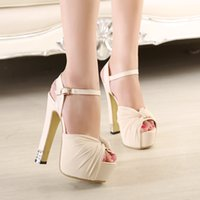 Chiffon Knot Strass strass Ultra High Heels Sandales Femme Mariage Mariage Chaussures Ivoire Rose Noir Taille 34 à 39
