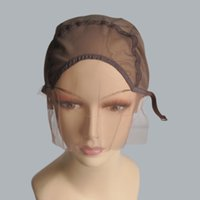 Wholesale S Wigs - Lace Front Wig Cap Base For Making Wigs With Adjustable Strap Glueless Weaving Cap Five Colors Size S M L Make It Your Own Style