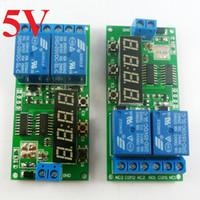 ingrosso modulo relè canale 5v-2pcs KC22B02 DC 5V 2 Channel 9 funzione Delay Timer Relay modulo di controllo del motore Reverse Timer 1-9999s