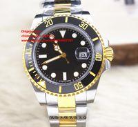Wholesale Bezel Blue Black Ceramic Watches - Luxury AAA+ Quality Watch 40mm Ceramic Bezel 116613 LB LN 116613LB 116613LN 18k Gold & Steel Asia 2813 Movement Automatic Mens Watch Watches