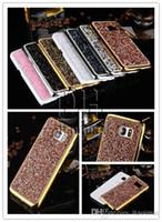 iphone 5s jöle durumlarda toptan satış-Yeni Jelly Elmas Sert Arka Kapak Kılıf iphone 5 5 S SE 6 s Artı Samsung Galaxy S7 Kenar S6 Kenar Artı Not5