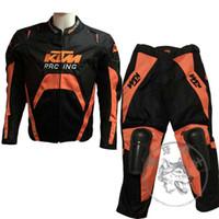 Wholesale Racing Jacket Pants - 2016 newest KTM Racing Sets men's KTM Motorcycle racing hump jacket + pants with Removable cotton liner 2 color