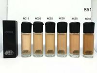 spf 15 venda por atacado-Hot Marca M Matchmaster Foundation SPF 15 35 ML Líquido Corretivo Rosto Maquiagem Cosméticos 24 pcs DHL livre