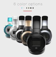 Wholesale Ear Hooks Display Card - newest ZEALOT B19 Headphones LCD Display HiFi Bass Stereo Bluetooth Headset Wireless With Mic TF Flip For Folding Card Headphones Headphones