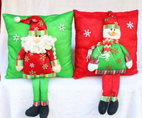 Wholesale Red Bolster Pillow - Stuffing Christmas Pillow Decoration bolster With The Santa Claus And Snowman Xmas Holidays Party Supplies hot sale Product Code : 90 - 2004