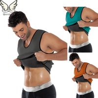 Wholesale Corsets For Weight Loss - Wholesale-FeelinGirl Waist Training Corsets For Men Neoprene Hot Shapers Body Shaper Slimming Vest Training Corsets Gym Sport Loss Weight