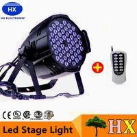 Wholesale 54 Led Par Lights - 4X Lot Free Shipping CE Approved RGBW 54*3W LED Par Light Stage DMX 512 led stage light 8 Channels Flat Led Par Can