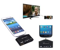 Gros-Micro USB OTG SD TF Writer Reader HUB MHL vers HDMI HDTV Adaptateur TV pour Samsung Galaxy S3 S5 S4 Note 4 3 2 Bord