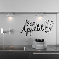 Paper Wallpapers Bon Appetit Kitchen Decor   Franch Bon Appetit Wall  Stickers Wall Stickers Home Decor