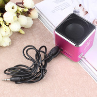 Wholesale Small Portable Radio Speaker - free shipping very small portable mini speaker with display FM radio with insert card play computer MP3