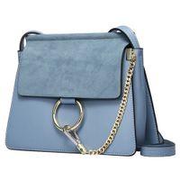 Wholesale Cloe Bag - Popular Design Women Genuine Leather Cloe Bag High Quality Real Cowskin Shoulder Bag Chain Organ Bag