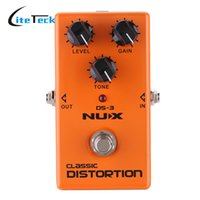 Vente en gros- NUX Classic Distortion Pedal Pédale d'effet de guitare électrique de haute qualité True Bypass Durable Guitar Parts Accessories