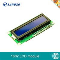 Wholesale Monitor Code - Wholesale-1PCS LCD1602 1602 module Blue screen LCD1602 LCD monitor 1602 5V blue screen and white code for arduino
