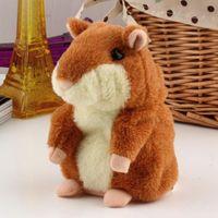 Wholesale Animal Speak - Cute 15cm Anime Cartoon Talking Hamster Plush Toys Kawaii Speak Talking Sound Record Hamster Talking Toys for Children