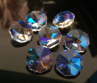 AAA Top Quality 14mm AB 1 Hole Chandelier Glass Crystal Octagon Beads DIY Garland Ornament