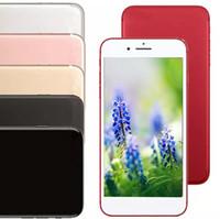Wholesale Silver Usb 128gb - Goophone 5.5 inch smartphone i7 plus MTK6582 Quad Core ram 1GB rom 4GB show 128GB 8.0MP+2MP camrea 3G Smart Phone