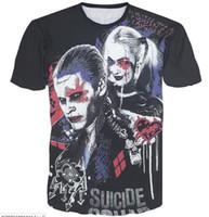 ingrosso mens del maglione del joker-2016 3D Suicide Squad Grafica magliette uomo Girocollo tees polos Suicide Squad KillerInspired The Joker Mens Top T-Shirt da uomo