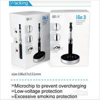 Wholesale Igo Kit - New Products IGO 3 Touch Charger Ecig Starter Kit Rechargeable E Cigarette IGO3 E-cigarette 650mah Li Battery with LCD e-cigarettes