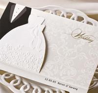 einladungsdekoration zubehör großhandel-Europäischen Stil Hochzeitseinladungen Weißes Kleid Hochzeitseinladungen Persönlichkeit Kreative Individuelle Einladungen Hochzeit Dekorationen Zubehör